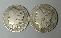 LOT OF 2 MORGAN SILVER DOLLARS 1892-S 1894-O CIRCULATED 5920