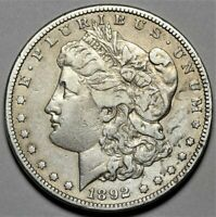 1892-S MORGAN DOLLAR  >> US SILVER $1 COIN <<  SEMI-KEY DATE  LOT 520
