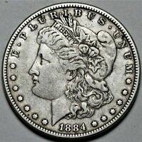 1884-P MORGAN DOLLAR  >> US SILVER $1 COIN <<  FLAT RATE SHIPPING  LOT 520