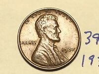 1937 1C LINCOLN CENT WHEAT CENT 3900K