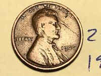 1926 1C BN LINCOLN CENT WHEAT CENT  2505K