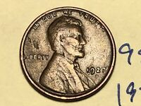 1927 D LINCOLN CENT WHEAT CENT 9811W