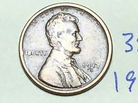 1917-S LINCOLN WHEAT SMALL CENT PENNY 3842K