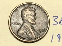 1919 S LINCOLN CENT WHEAT BACK PENNY 3873K