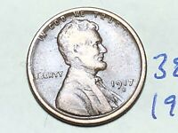 1917-S LINCOLN WHEAT SMALL CENT PENNY 3856K