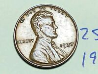 1937 1C LINCOLN CENT WHEAT CENT 2560K
