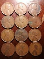 LOT OF 12 1935-D LINCOLN WHEAT CENT