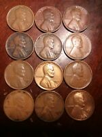 LOT OF 12 1935-S LINCOLN WHEAT CENT