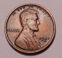 1927 D LINCOLN WHEAT CENT CENT --  NOT STOCK PHOTOS   --   SHIPS FREE
