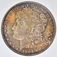 1904-O MORGAN SILVER ONE DOLLAR ANACS MINT STATE 63 BU TONED COIN IN HIGH GRADE