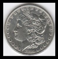1884-P MORGAN SILVER DOLLAR - NEARLY UNCIRCULATED - SEE SCANS YOU GRADE