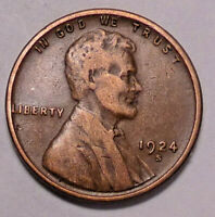 1924 S LINCOLN WHEAT CENT PENNY - NOT STOCK PHOTOS - -  SHIPS FREE