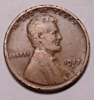 1917 D LINCOLN WHEAT CENT PENNY -   -  SHIPS FREE
