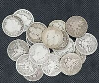 LOT OF  20  BARBER QUARTERS 1892 1916 90  SILVER   GOOD OR B