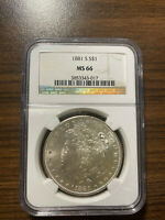 1881-S MORGAN SILVER DOLLAR $1 NGC MINT STATE 66