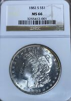1882-S NGC MINT STATE 66 MORGAN SILVER DOLLAR