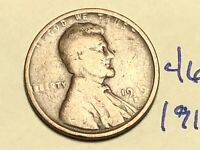 1919 S LINCOLN CENT WHEAT BACK PENNY 4614K