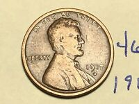 1917 D LINCOLN WHEAT CENT PENNY 4612K
