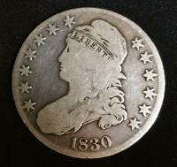 1830 CAPPED BUST HALF DOLLAR 50C, SMALL