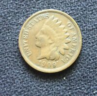1909 INDIAN HEAD CENT  AVERAGE CONDITION COIN  SOME LIBERTY [LOT332]