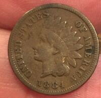 1884 INDIAN HEAD CENT AVERAGE CONDITION COIN  MOST OF LIBERTY [LOT336]