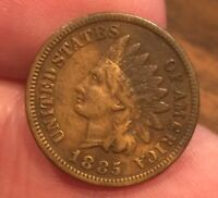 1885 INDIAN HEAD CENT AVERAGE CONDITION COIN  FULL LIBERTY [LOT341]
