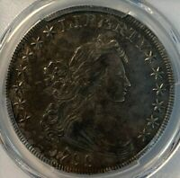 1799 PCGS EXTRA FINE 40 DRAPED BUST SILVER DOLLAR $1