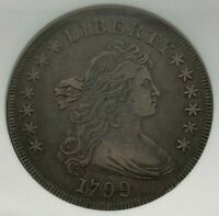 1799 NGC EXTRA FINE 45 DRAPED BUST SILVER DOLLAR $1