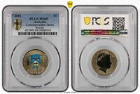 2018 AUSTRALIA $1 COMMONWEALTH GAMES   BOROBI PCGS   MS69 PO