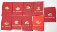 AUSTRALIA MINT SETS 1972 1974 1975 X 2 1976 X 4 1978 AND 197