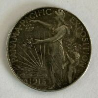 1915 S PANAMA PACIFIC COMMEMORATIVE HALF DOLLAR