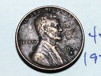 1935-D 1C BN LINCOLN CENT WHEAT CENT 4554K