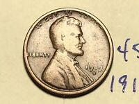 1919 S LINCOLN CENT WHEAT BACK PENNY 4531K