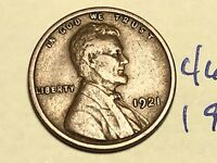 1921 1C BN LINCOLN CENT WHEAT CENT 4687K