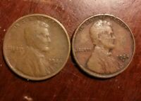LOT OF 2 1924-S LINCOLN WHEAT CENT
