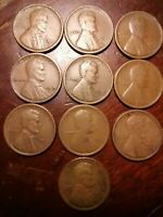 LOT OF 10 1919-S LINCOLN WHEAT CENT