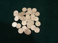 90  SILVER WASHINGTON QUARTERS ROLL OF 40   $10 FACE VALUE