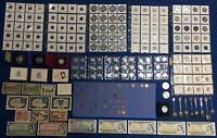 CANADA & WORLD COIN & TOKEN & BANKNOTE ESTATE LOT SEE PICTUR