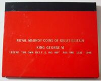1942 G.B. MAUNDY 4 COIN SET IN DISPLAY CASE