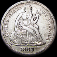 1863-S SEATED LIBERTY DIME SILVER TYPE COIN ----  ---- A436