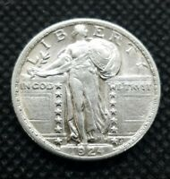 1924 STANDING LIBERTY QUARTER | ALMOST UNCIRCULATED