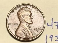 1936-D LINCOLN WHEAT CENT PENNY 4764K