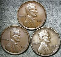 1910 1919-D 1924-S LINCOLN WHEAT CENTS ----  LOT ---- A396