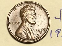 1936 S 1C LINCOLN WHEAT CENT CENT 4856K