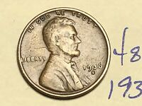1936 S 1C LINCOLN WHEAT CENT CENT 4847K