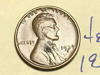 1936 S 1C LINCOLN WHEAT CENT CENT 4844K