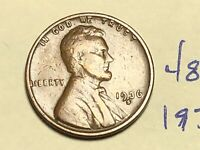 1936 S 1C LINCOLN WHEAT CENT CENT 4842K