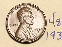 1936 S 1C LINCOLN WHEAT CENT CENT 4841K