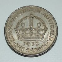 1938 COMMONWEALTH OF AUSTRALIA ONE CROWN UNTOUCHED