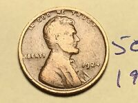 1924 1C BN LINCOLN CENT 5050K WHEAT CENT